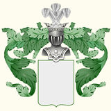 Coat of arms. Illustration of a heraldic crest or family coat of arms Royalty Free Stock Photography