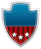 Coat of arms. In patriotic U.S. colors Royalty Free Stock Images