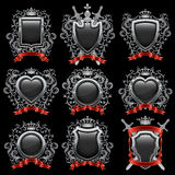 Coat of arms. Set. Vector illustration Royalty Free Stock Photography