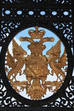 Coat of arms. On the gate Stock Images