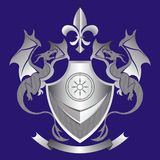 Coat of arms. The coat of arms with welfare and prosperity symbolics Royalty Free Stock Image