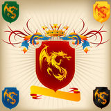 Coat of Arms 26 - Dragon stock illustration