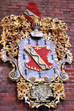 Coat of arms. Of the Brevern family may 1735 in downown Riga, Latvia Dome cathedrale Stock Images
