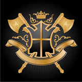 Coat Of Arms. Vector heraldic pattern on black background Stock Photo