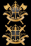 Coat Of Arms. Vector heraldic pattern on black background Royalty Free Stock Photography