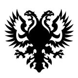 Coat of arms albania russia. Vector illustration of griffin, harpy, two headed eagle, coat of arms of many european countries as albania and russia royalty free illustration