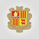 The Coat of Arms of Andorra Royalty Free Stock Photos