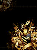 Coat of arms background Royalty Free Stock Images