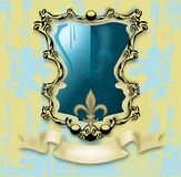 Coat of Arms with background Royalty Free Stock Photos