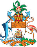 Coat of arms of Bahamas. Vectorial image of coat of arms of Bahamas Royalty Free Stock Images
