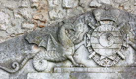 Coat of Arms Bas-relief Stock Photos