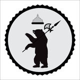Coat of arms bear.  illustration Stock Photos