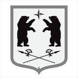 Coat of arms. bear shape. illustration Royalty Free Stock Photos