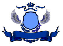 Coat of arms blue on white background Stock Photos