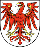 Coat of Arms of  Brandenburg Stock Images