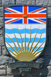 Coat of arms of British Columbia Royalty Free Stock Image