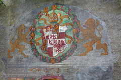 Coat of arms, Brunico Castle. South Tyrol Royalty Free Stock Images