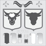 Coat of arms buffalo.  illustration Stock Photos