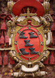 Coat of Arms of Burgos Stock Image