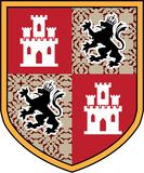 Coat of Arms Castle Lions vector shield Stock Images