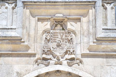 Coat of arms in the cathedral of Burgos Stock Photo