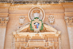 Coat of arms of the catholic Curia in Malta royalty free stock image