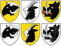 Coat of arms - cattle. Vector, illustration, historical coat of arms, Czech blazons Stock Image