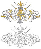 Coat of arms with cherub Royalty Free Stock Images