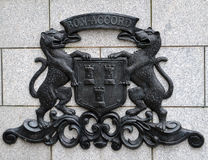 Coat of arms of City of Aberdeen on Granite background Royalty Free Stock Photography