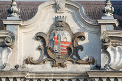 Coat of Arms of the City of Gyor Stock Photos