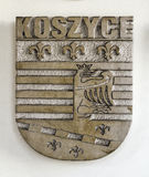 Coat of arms. Coat of arms, city of Koszyce, Slovakia Royalty Free Stock Images
