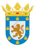 Coat of Arms of the City of Santiago stock photos