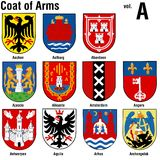 Coat Of Arms Collection. Colored Illustrations, Vector Stock Photo