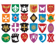 Coat of arms collection. Set of heraldry shields, heraldic design, heraldic set, heraldic design elements Royalty Free Stock Image