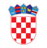 Coat of arms of Croatia, vector illustration Royalty Free Stock Images