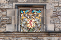 Coat of arms detail in Edinburgh castle Stock Photos