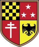 Coat of Arms Eagle Cross Stars Vector. Royal shield Stock Images