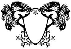 Coat of arms eagles vector Royalty Free Stock Image