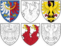Coat of arms - eagles Royalty Free Stock Photos