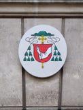 Coat of arms of Egon Kapellari Bishop of Graz-Seckau. In Graz, Styria, Austria Stock Photos