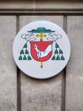Coat of arms of Egon Kapellari Bishop of Graz-Seckau. In Graz, Styria, Austria Stock Photography