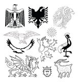 Coat of arms elements set, vector illustration Royalty Free Stock Photography