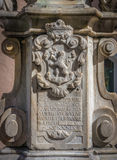 Coat of arms engraved on granite stone Royalty Free Stock Photography