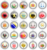 Coat of arms of the European countries. Stock Photography