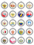 Coat of arms of the European countries. Royalty Free Stock Photo