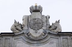 Coat of arms of family of count Orlov Stock Photo