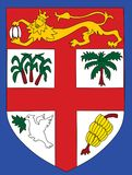 Coat of arms of Fiji . Coat of arms of Fiji - Fear God and honor the Queen Stock Images