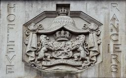 Coat-of-arms. Fine Art decoration town family wall lions Holland details Stock Photography