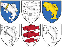 Coat of arms - fisches Stock Photography