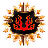 Coat of arms with flame Royalty Free Stock Photography